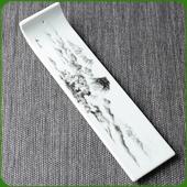 Porte-Encens Gondole en Porcelaine ~ Dimensions : 21,50 x 5,50 cm