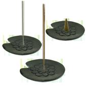 Porte-Encens en Pierre ~ Dimensions : 11,50 (L) x   11,00 (l) x  0,80 (H) cm