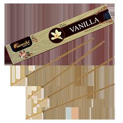 Vanille : Encens Indien Aromatika ~ Étui de 15 Grammes