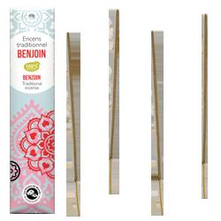 Benjoin : Encens Indien Les Encens du Monde ~ Étui de 20 Bâtonnets