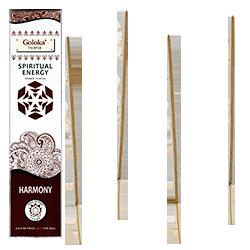 Énergie Spirituelle (Harmonie) : Encens 100% Naturel Masala Goloka ~ Étui de 15 Grammes