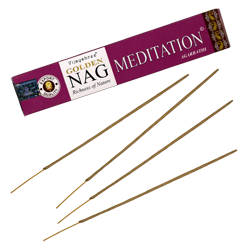 Nag Meditation : Encens Golden Nag Meditation ~ Étui de 15 Grammes