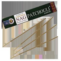 Nag Patchouli : Encens Golden Nag Patchouli ~ Étui de 15 Grammes