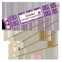 Nature's Lavender  : Encens Indien Goloka ~ Boîte de 15 Grammes (13 Bâtonnets)