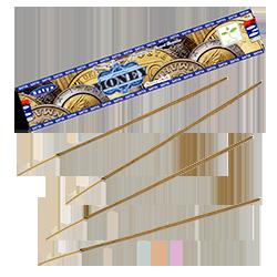 "Money ("" Argent "") : Encens Indien Satya ~ Boîte de 15 Grammes (13 Bâtonnets)"