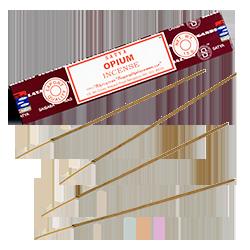 Opium : Encens Indien Satya ~ Étui de 15 Grammes