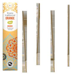 Orange : Encens Indien Les Encens du Monde ~ Étui de 20 Bâtonnets
