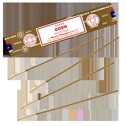 Oudh : Encens Indien Satya ~ Boîte de 15 Grammes (13 Bâtonnets)