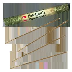 Patchouli : Encens Naturel au Patchouli HEM ~ Étui de 20 Bâtonnets