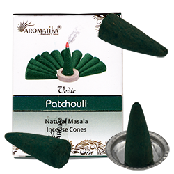 Cônes d'Encens 100% Naturels au Patchouli