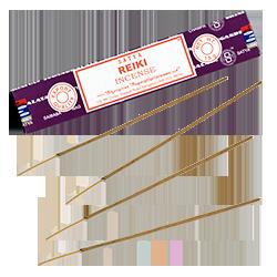 Reiki : Encens Indien Satya ~ Boîte de 15 Grammes (13 Bâtonnets)
