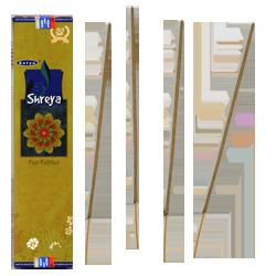 """ Shreya "" ~ Encens Naturel Indien Satya ~ Étui de 20 Grammes"