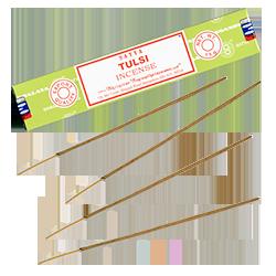 Tulsi : Encens Indien Satya ~ Boîte de 15 Grammes (13 Bâtonnets)