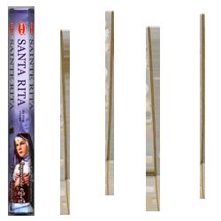 Sainte Rita : Encens Religieux ~ Boîte Hexagonale de 20 Bâtonnets