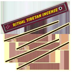 Ritual Tibetan Incense : Encens Tibétain 100% Naturel ~ Fagot de ±27 Bâtonnets