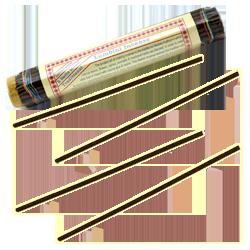 Lumbini Incense : Encens Tibétain ~ Fagot de ±52 Bâtonnets + 1 Porte-Encens