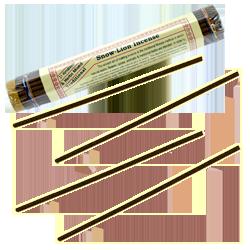 Snow-Lion Incense : Encens Tibétain ~ Fagot de ±48 Bâtonnets + 1 Porte-Encens