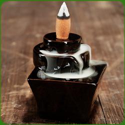 Fontaine à encens en terre cuite