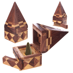 "Porte-Encens en Bois "" Pyramide """