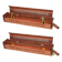 Porte-Encens Bois avec Réservoir et Couvercle ~ Dim. : 30,50 x 5,50 x 5,00 cm