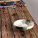 Porte-Encens Coupelle Jaune en Porcelaine ~ Dimensions : 12,00 x 4,00 cm