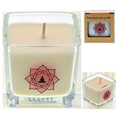 Méditation : Bougie Naturelle à l'Huile Essentielle de Fleur de Lotus et de Vanille.