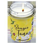 Tonus : Bougie Naturelle à l'Huile Essentielle de Citron, de Menthe Poivrée, de Citronnelle et de Ravinstara