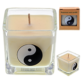 Yin Yang : Bougie Naturelle à l'Huile Essentielle de Lavande, d'Ylang Ylang et de Fleur d'Oranger.