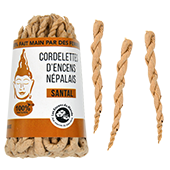 Santal : Cordelettes Népalaises au Bois de Santal ~ Fagot de ±42 Cordelettes