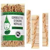 Citronnelle : Cordelettes Népalaises à la Citronnelle ~ Sachet de 42 Cordelettes