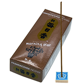 Oliban (Frankincense) : Encens Japonais Morning Star ( Nippon Kodo ) ~ Étui de 200 Bâtonnets + 1 Porte-Encens