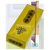 Patchouli : Encens Japonais Morning Star ( Nippon Kodo ) ~ Étui de 200 Bâtonnets + 1 Porte-Encens