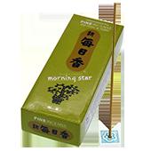 Pin : Encens Japonais Morning Star ( Nippon Kodo ) ~ Étui de 200 Bâtonnets + 1 Porte-Encens