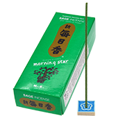 Sauge (Sage) : Encens Japonais Morning Star ( Nippon Kodo ) ~ Étui de 200 Bâtonnets + 1 Porte-Encens