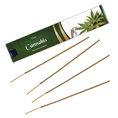 Cannabis : Encens Indien Aromatika ~ Étui de 15 Grammes