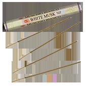 Musc Blanc : Encens au Musc Blanc HEM ~ Étui de 20 Bâtonnets