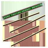 Pure Tibetan Herbal Medicine : Encens Tibétain 100% Naturel ~ Étui de ±27 Bâtonnets