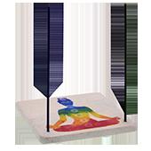 Porte-Encens '' 7 Chakras '' ~ Largeur : 10.00 cm ; Profondeur : 10 cm ; Hauteur : 2.00 cm