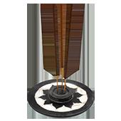 Porte-Encens '' Lotus '' ~ Diamètre : 10.00 cm ; Hauteur : 1.50 cm
