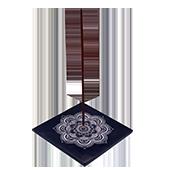 Porte-Encens '' Mandala '' ~ Largeur : 10.00 cm ; Profondeur : 10 cm ; Hauteur : 1.30 cm