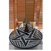 Porte-Encens '' Pentacle '' ~ Diamètre : 10.00 cm ; Hauteur : 1.50 cm