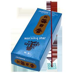 Jasmin : Encens Japonais Morning Star ( Nippon Kodo ) ~ Étui de 200 Bâtonnets + 1 Porte-Encens