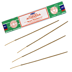 Ayurveda : Encens Indien Satya ~ Boîte de 15 Grammes (13 Bâtonnets)