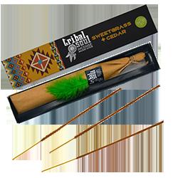Sweet Grass + Cèdre : Encens Amérindien Tribal Soul